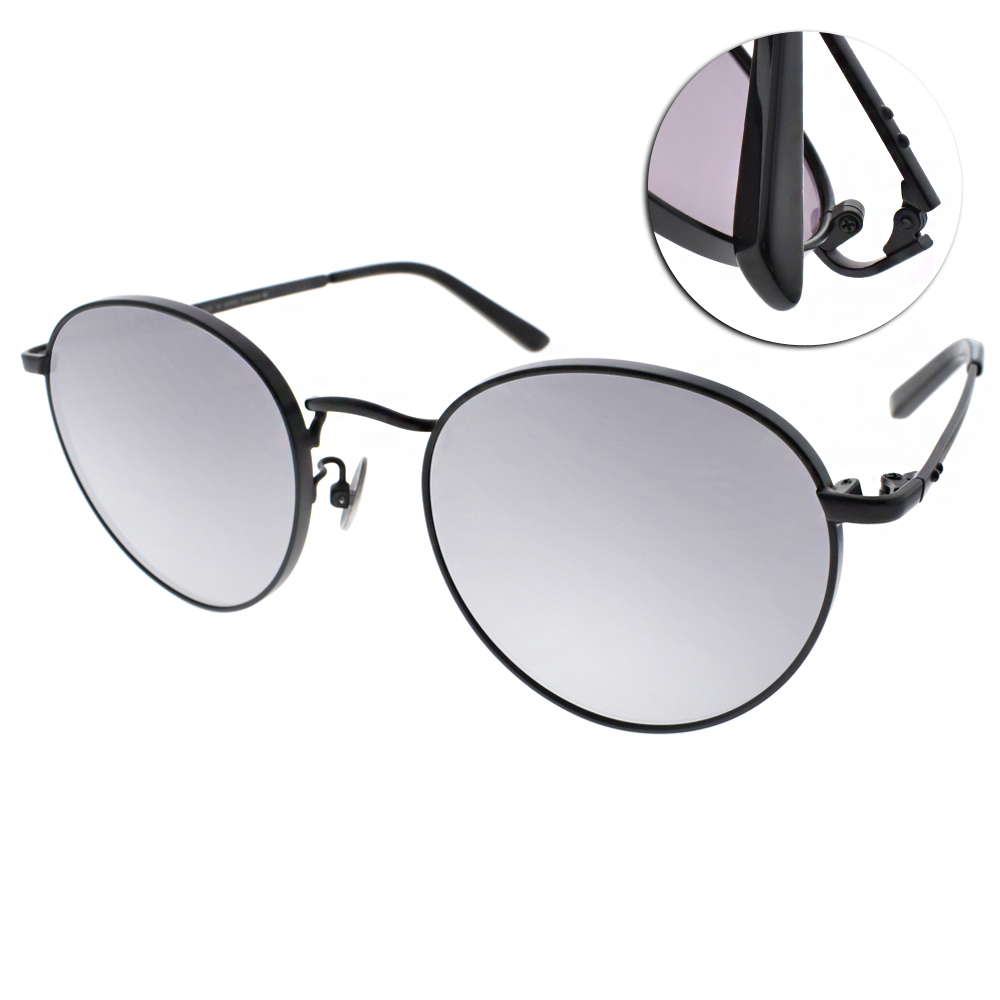 NINE ACCORD太陽眼鏡 輕量圓框/黑-白水銀#KISSING FRAN C03