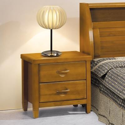 床頭櫃 森杰1.8尺二抽 柚木色 愛比家具