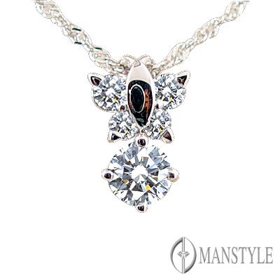 MANSTYLE DIAMOND「蝶戀」0.30ct 八心八箭鑽墜
