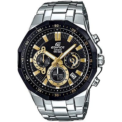 CASIO EDIFICE 科技計時腕錶(EFR-554D-1A9)-黑金/47.1mm
