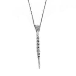 apm MONACO法國精品珠寶 閃耀長方形鑲鋯可調整長項鍊