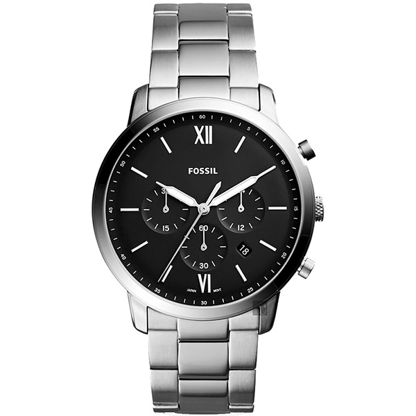 FOSSIL NEUTRA 時尚流行計時手錶(FS5384)-黑x銀/44mm