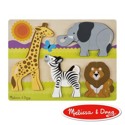 美國瑪莉莎 Melissa & Doug 厚塊拼圖-非洲動物園