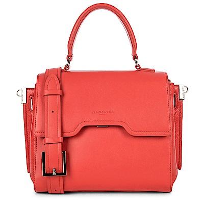 LANCASTER Paris-IRENE 時尚幾何拼接皮革手提肩背兩用包