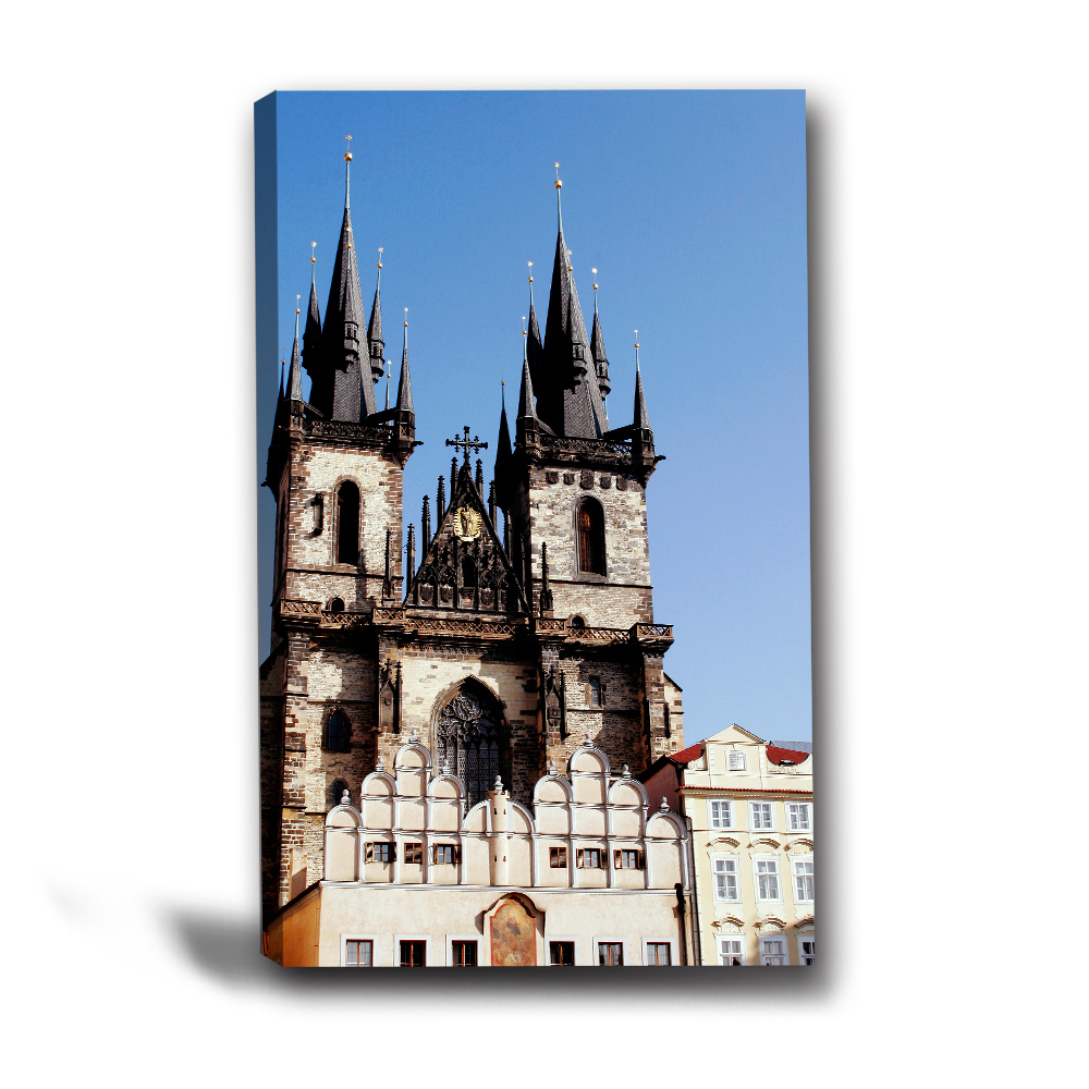 24mama掛畫-單聯直幅異國建築風景餐廳民宿-公主的城堡-40x60cm