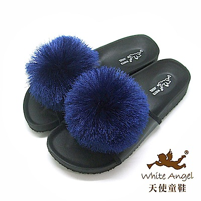 天使童鞋 好新晴蒲公英親子拖鞋(中童)J898-藍