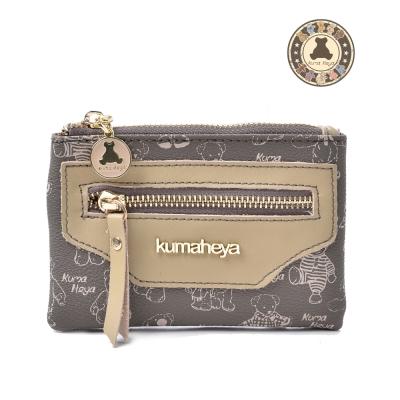 kuma heya -美國熊奶茶色卡式收納零錢包 共五色