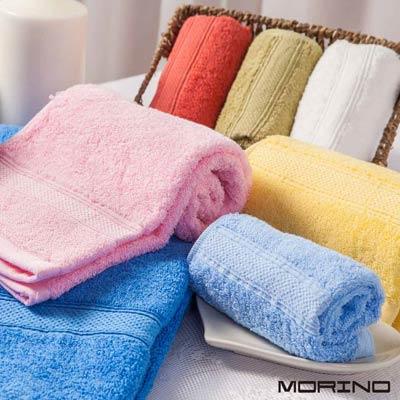 美國棉素色緞條方-毛-浴三件組-MORINO摩力諾