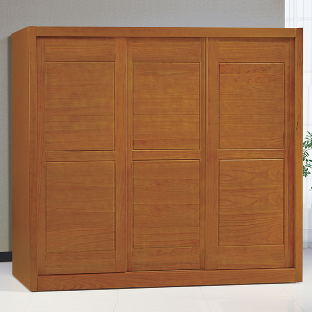 AS-愛德華7尺實木衣櫃-212x62.6x201cm