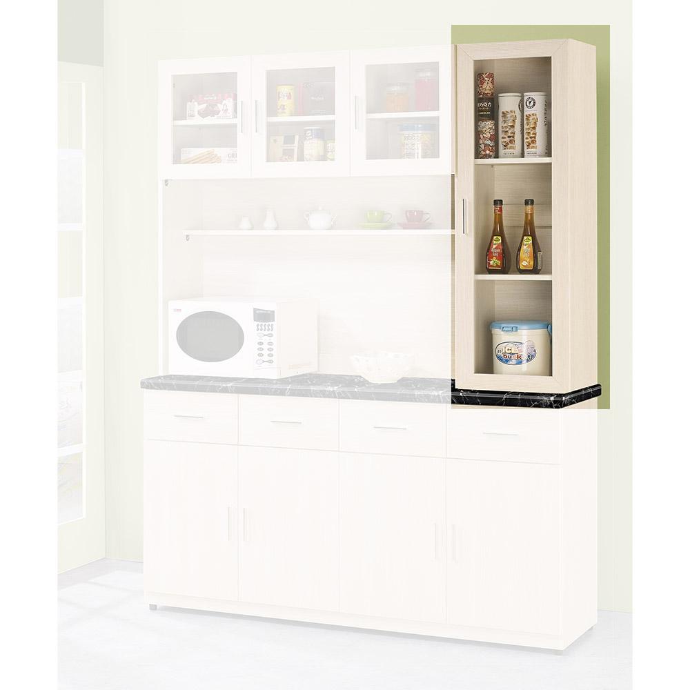 H&D 雪杉白1.3尺餐櫃上座 (寬39.2X深32.5X高120.5cm)