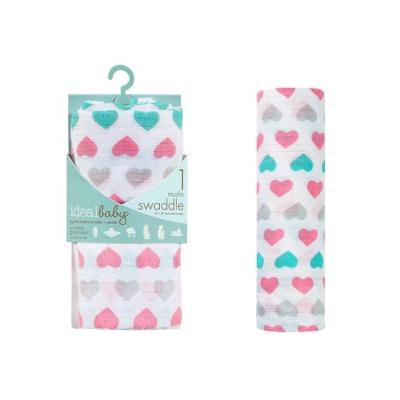美國idealbaby 輕柔新生兒包巾(1入)-甜心 IB130