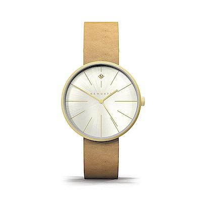 Newgate-NEW YORK-楓糖棕-皮革錶帶-40mm