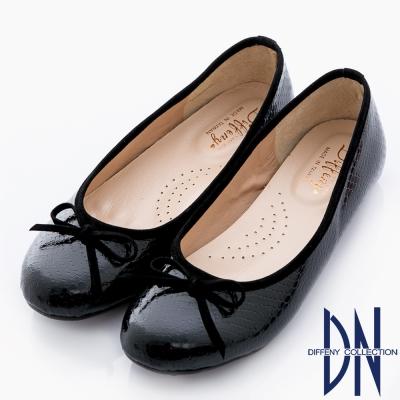 DN 優雅通勤 MIT特殊壓紋舒適娃娃鞋 黑