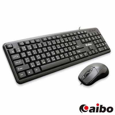 aibo 有線標準型鍵盤滑鼠組  LY-ENKM05