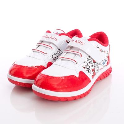 HelloKitty童鞋-時尚塗鴉運動款-715926白紅(中大童段)
