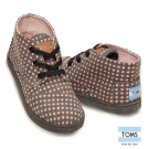 TOMS 可愛點點帆布休閒鞋-孩童款