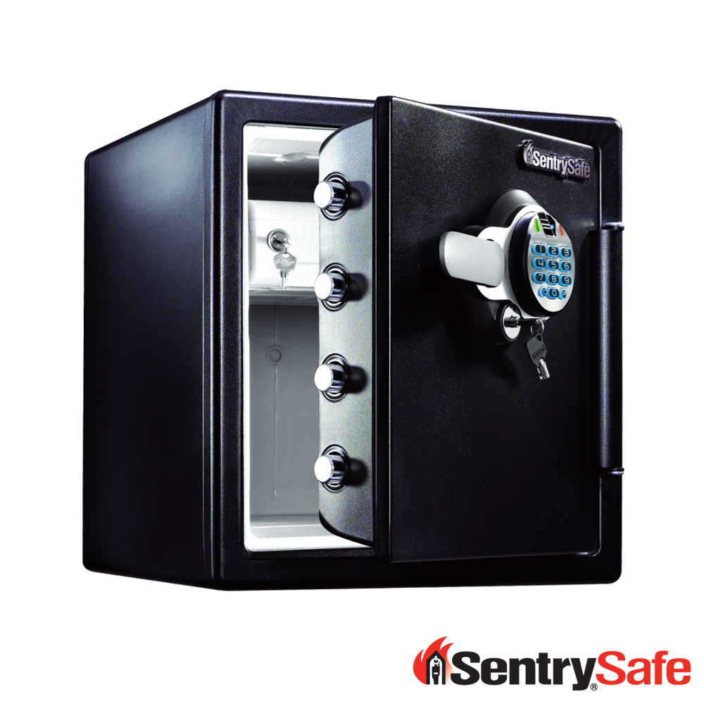 SentrySafe指紋電子按鍵鎖防水耐火保險箱SFW123BDC