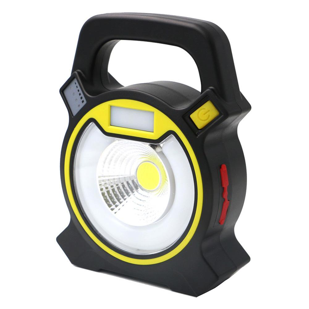 廣角10W充電式戶外照明燈露營燈(附18650電池2顆+micro傳輸線)
