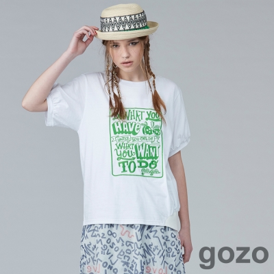 gozo街頭創作文字短T(二色)-動態show