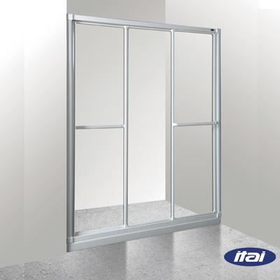 一太淋浴門-一字三門落地基本型(寬121~150cm x 高180cm範圍以內)