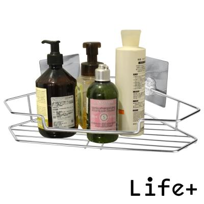 Life Plus 環保無痕魔力貼掛勾-單層角落架/三角置物架