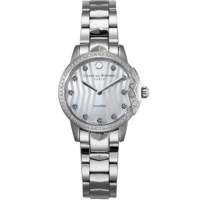 Christian Bernard 伯納錶 海洋明珠巴黎風情鑽錶 -銀/33mm