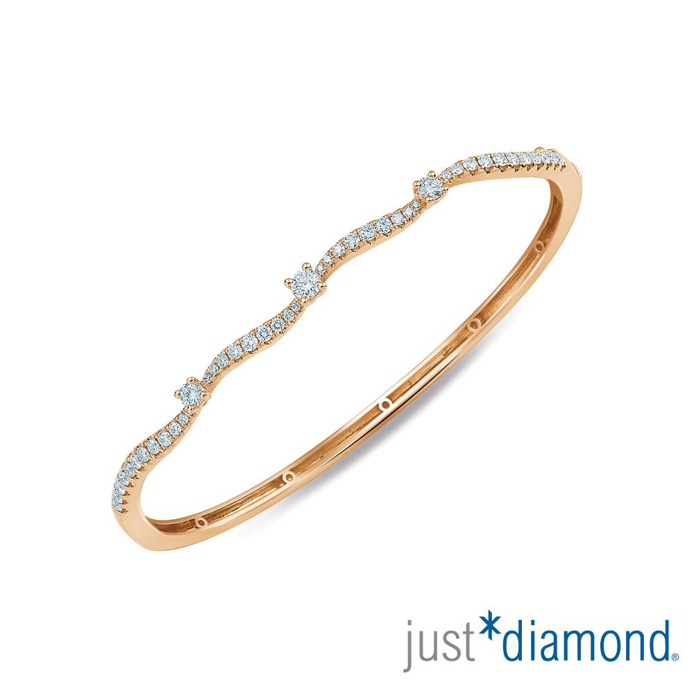 Just Diamond 玫瑰金 鑽石手環-Dancing Leaf
