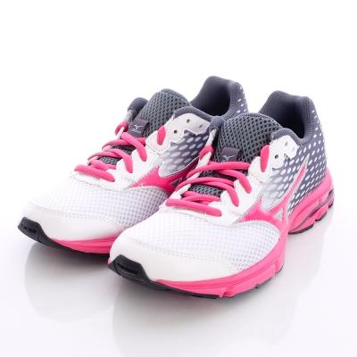MIZUNO童鞋-炫麗競速路跑鞋-152531白粉(中大童段)
