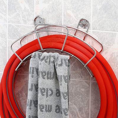 不鏽鋼水管抹布收納架