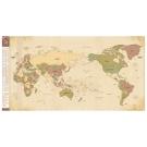 Indimap 環遊世界世界地圖海報(改版-雙層)-04探險棕版