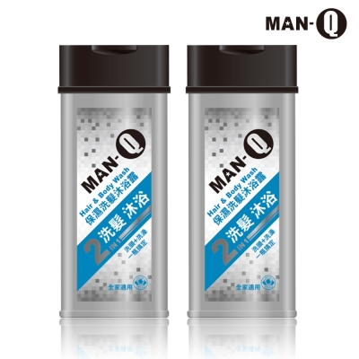MAN-Q 2in1保濕洗髮沐浴露 350mlX2