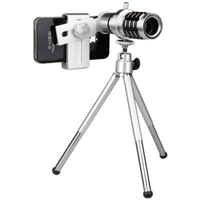 READY  12 倍長焦手機通用型單筒望遠鏡頭(附三腳立架)