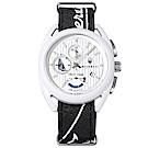 MASERATI 瑪莎拉蒂 經典帆船競賽計時手錶-白X黑/40mm