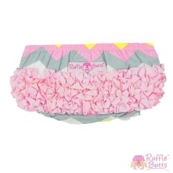 RuffleButts 小女童荷葉邊包屁褲-山型條紋款