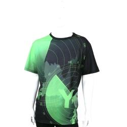 Y-3 黑x綠色航線LOGO圖騰短袖T恤
