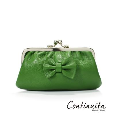 Continuita-康緹尼-頭層牛皮蝴蝶結雙珠扣