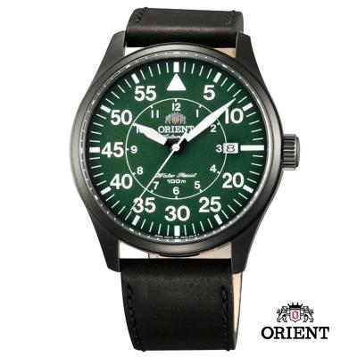 ORIENT 東方錶 Pilot Chronograph系列 飛行機械錶-綠色/42mm