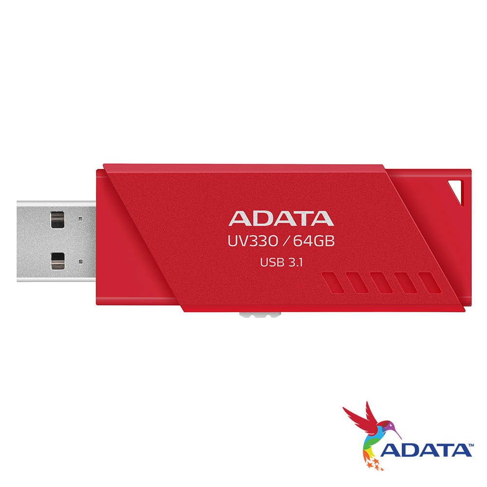 ADATA威剛 UV330 64GB隨身碟(紅)