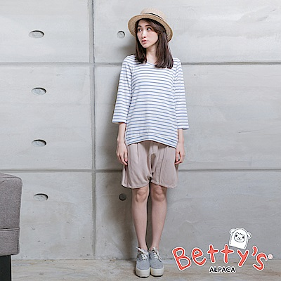 betty-s貝蒂思-優雅寬鬆短褲-卡其