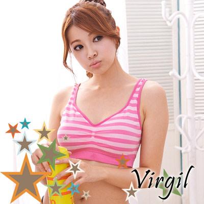 無鋼圈內衣 彈性萊卡睡眠內衣 (桃)(2件) Virgil