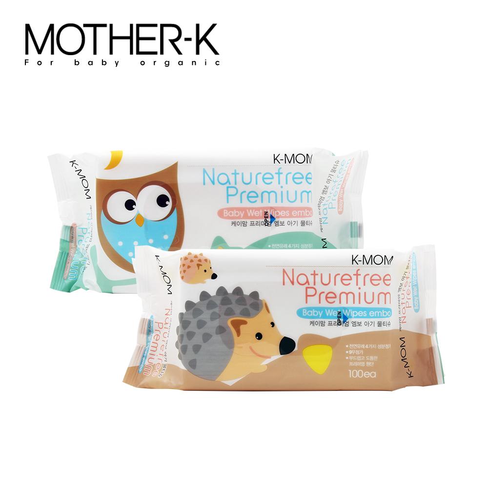 韓國MOTHER-K純淨自然幼兒濕紙巾(100抽/包)-柔花款(包裝隨機出貨)