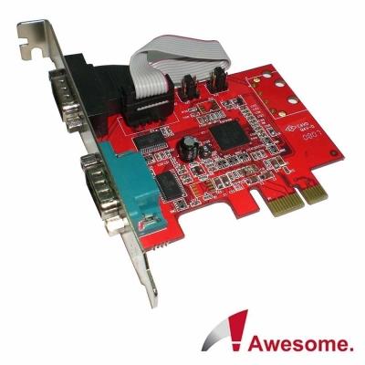 Awesome PCIe 2埠RS-232 I/O卡-AWD-952ER2