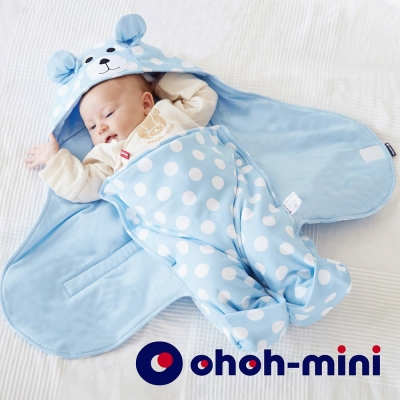 【ohoh-mini 孕婦裝】波卡熊系列 -智能IQ恆溫Baby包巾(兩色)