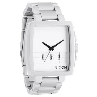 NIXON The AXIS 質感簡約時尚運動腕錶-銀白/40mm