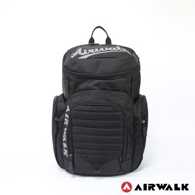 美國 AIRWALK掀蓋式輕量尼龍大空間後背包