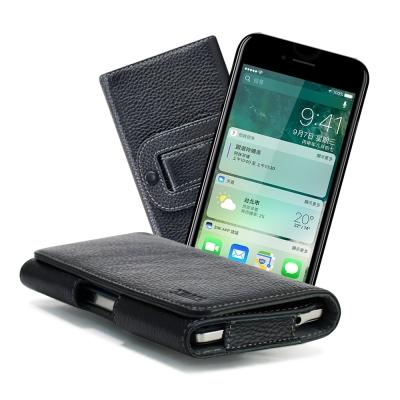 X mart Apple iPhone 7 plus 5.5吋 麗緻真皮腰掛皮套