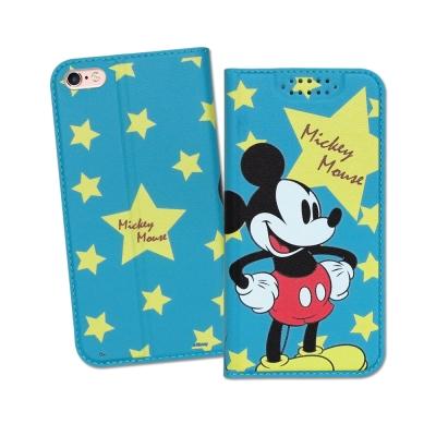 迪士尼授權正版 iPhone 6S Plus 5.5吋 印花系列彩繪皮套(米奇)