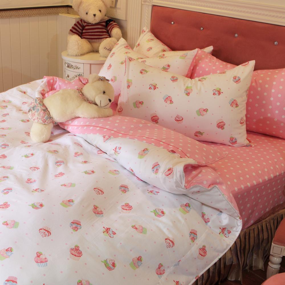 義大利Fancy Belle 甜心派對 加大純棉床包枕套組