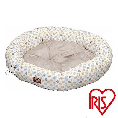 IRIS 圓點掌印 涼感沙發寵物圓床(PCSB-18CM)