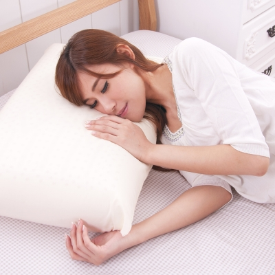 日本濱川佐櫻-和風素雅 大尺寸AA級蜂巢平面天然乳膠枕-2入